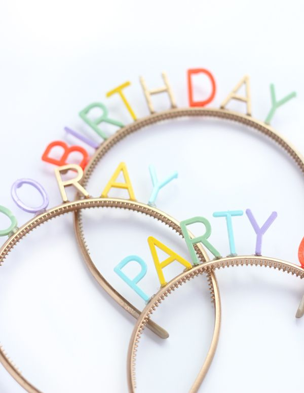 Make your own DIY birthday headbands with any saying you can dream up with this easy tutorial.