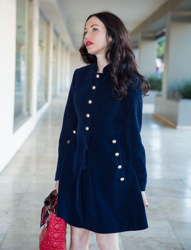 StyleWe Velvet Coat Dress, Lady Dior Bag, Fall Fashion, Velvet