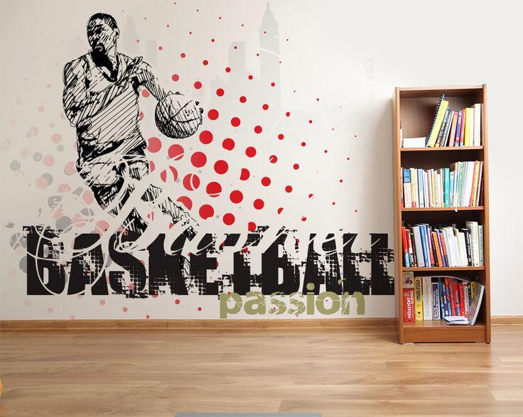 Wallpaper Sticker BASKETBALL PASSION by Sticky!!!