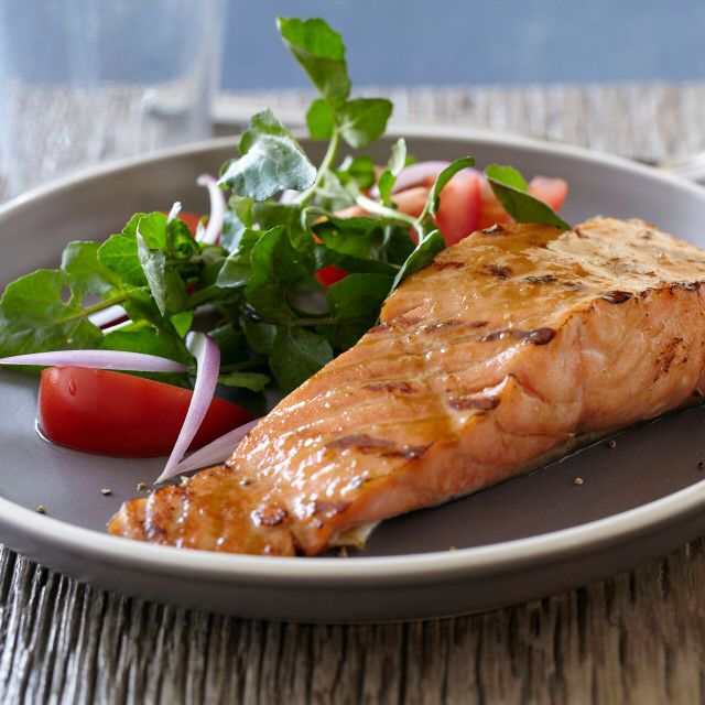 Salmon with Brown Sugar and Mustard Glaze By Bobby Flay