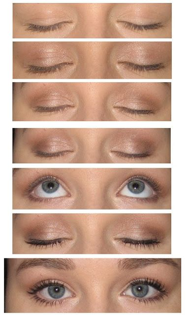 Here's a simple, everyday look to apply to your eyes when you are just leaving the house.