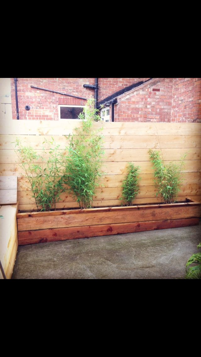 Scaffold Board fence and planter