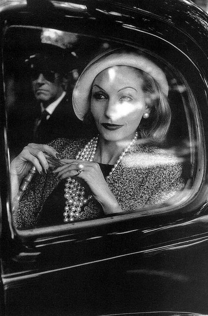 "Denise Serrault, photo called ""The Passenger"" by Jeanloup Sieff, Jardin des Modes, Monte Carlo 1960"