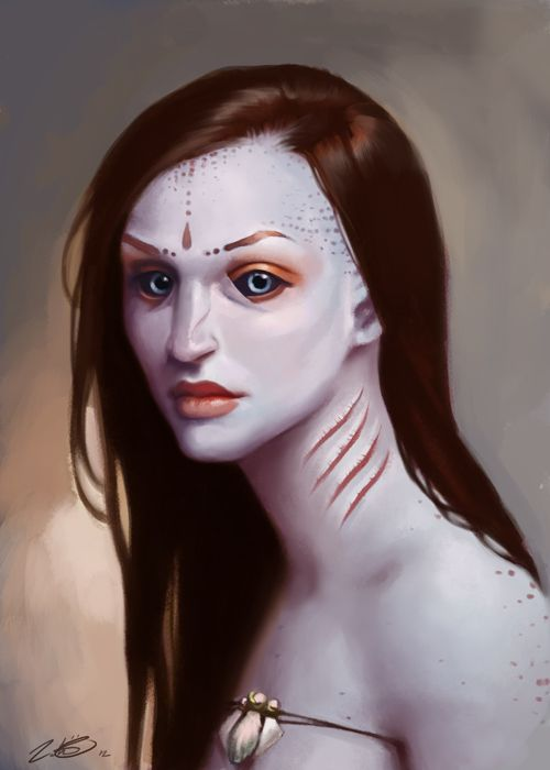 Blue Skin By LeoNeal On DeviantART Portraits