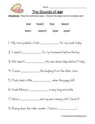 free sentence structure worksheets