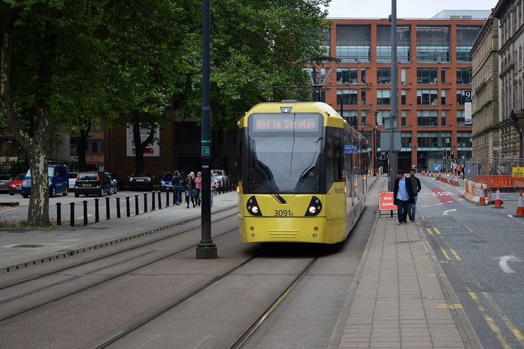 City Centre. Aytoun Street. Manchester Metrolink.