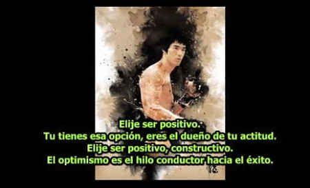 Elije Ser #Positivo. Tienes Esa Opción. Eres el Dueño de Tu #Actitud ~Bruce Lee