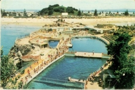 Mount Maunganui Leisure Island view from 1966
