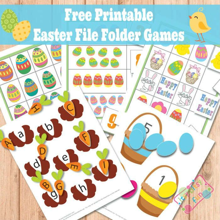*FREE* Spring/Easter File Folder Games -  upper/lower case match, number match, counting, what comes next, and matching eggs….