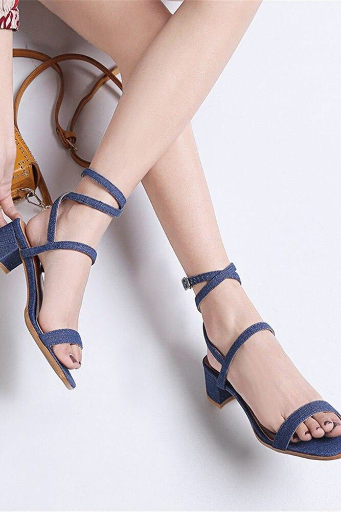64e45a8b0e9 Women sandals simple buckle summer solid color sexy lace up high heels shoes.  Chic classy comfy outfits for walking.