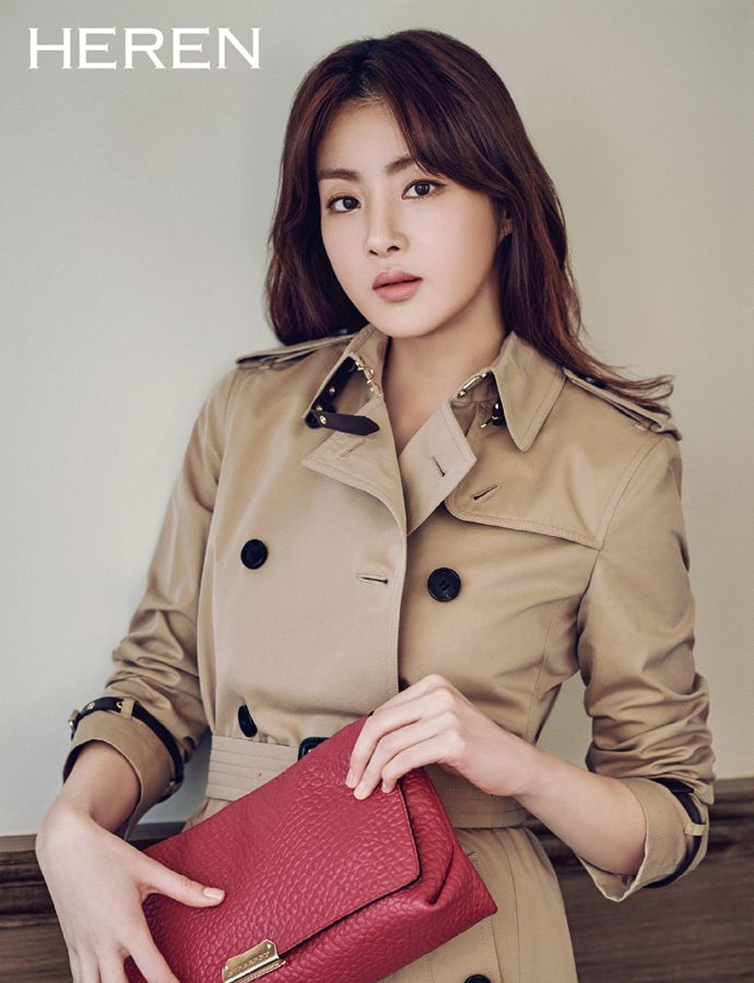 Kang So Ra in Burberry for Heren March 2015