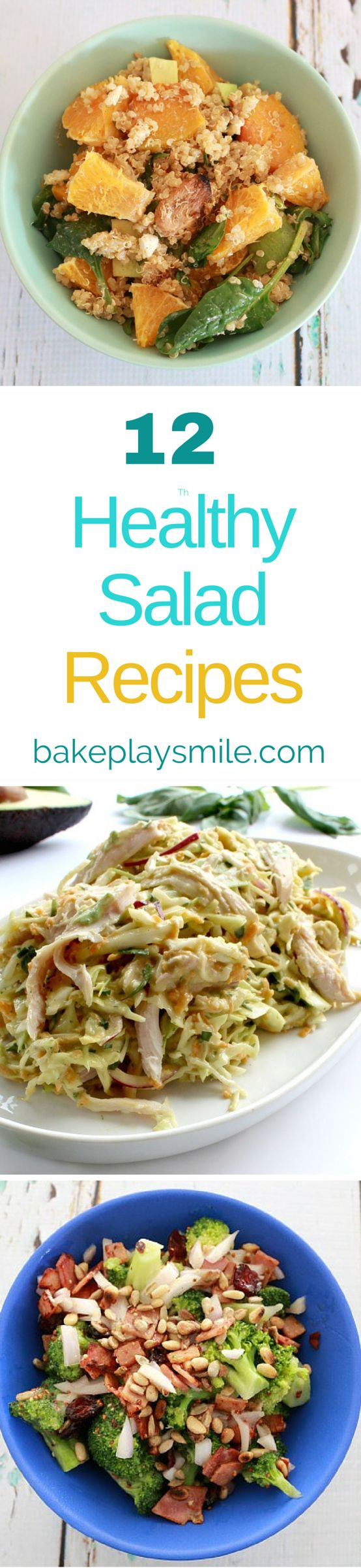 12 Deliciously Healthy Salads that will get you fit and fabulous in no time at…