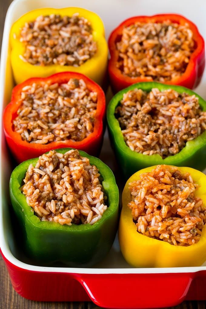 Stuffed Bell Peppers Recipe Stuffed Peppers Beef Rice Peppers Dinner Cheese Dinneratthezoo Stuffed Peppers Stuffed Bell Peppers Sweet Pepper Recipes
