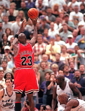michael jordan scores 38 pts with the flu .nba finals 1997