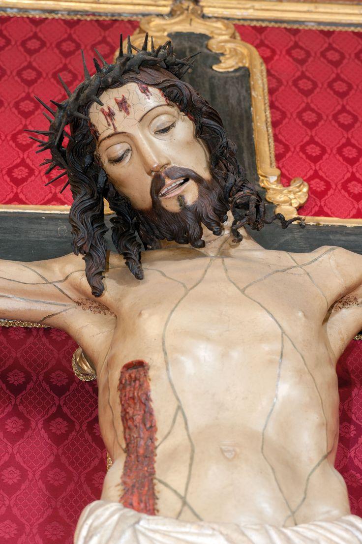 Giovanni Tedesco 1494 Crocefisso, Norcia, chiesa di Santa Maria Argentea, scultura lignea