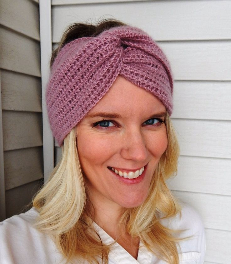 Ellie Headband - free crochet pattern. Great last-minute gift idea!