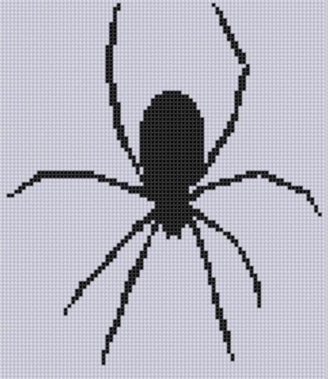 Spider Cross Stitch Pattern ... would love to do this on a shirt for Halloween!!