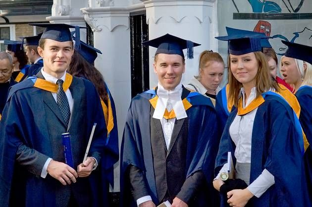 Bogdan Chis, 22, David Cowans, 23, Magda Klek, 23, all graduated in communication studies