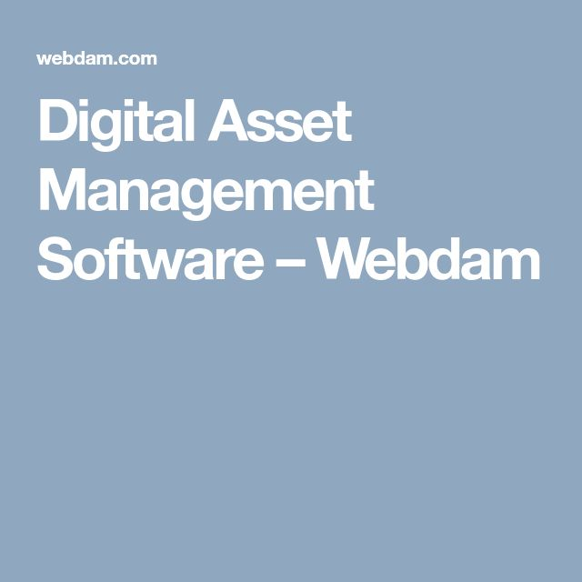 Digital Asset Management Software – Webdam