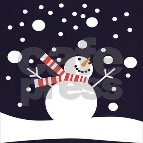 Holiday Fun Happy Snowman Graphic on shirts, mugs, ornaments, and more. Frosty never looked so good!