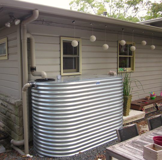 2,000 gallon rain barrel   Better looking, safer for households with small children