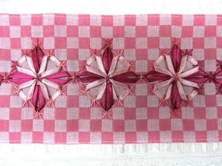 Resultado de imagen para bordados em tecido xadrez passo a passo