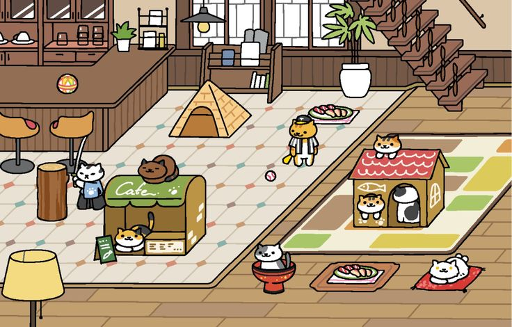 Neko atsume image by 레베카 체 on Neko Atsume Cafe Style