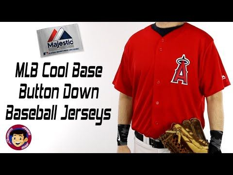 Majestic Full Button Replica MLB Baseball Jersey | Cool Base 6840 684Y