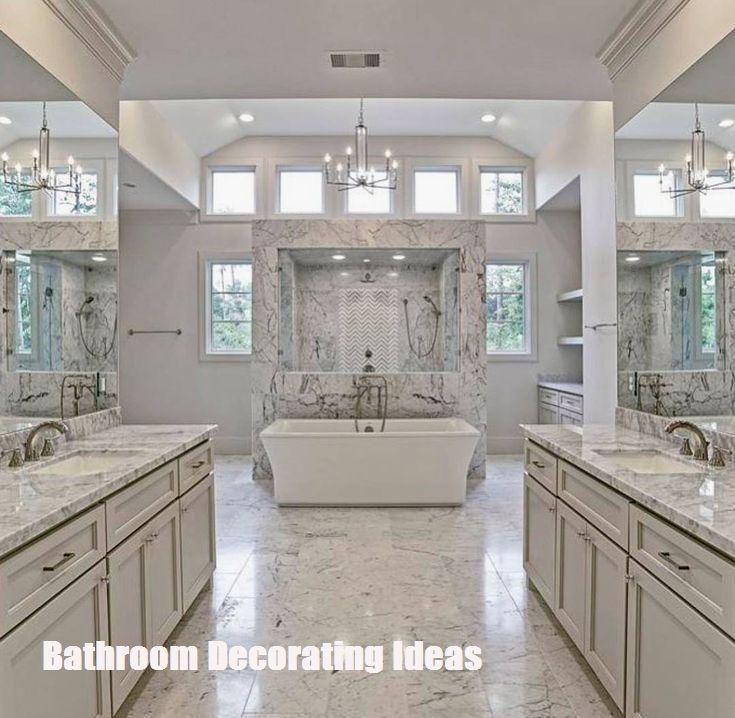 Make Your Bathroom Look Bigger With These Bathroom Decorating Ideas Glamorous Bathroom Luxury Master Bathrooms Master Bathroom Design