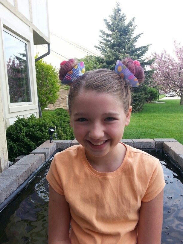 Crazy Hair Day! Cupcake Buns.   hair   Pinterest   Crazy ...