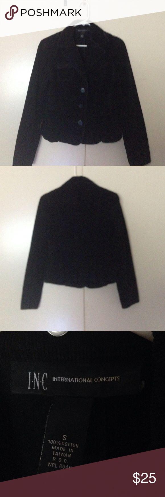 INC International Concepts Black Corduroy Jacket Macy's INC International Concepts black corduroy jacket. 100% cotton. Imported. INC International Concepts Jackets & Coats Jean Jackets