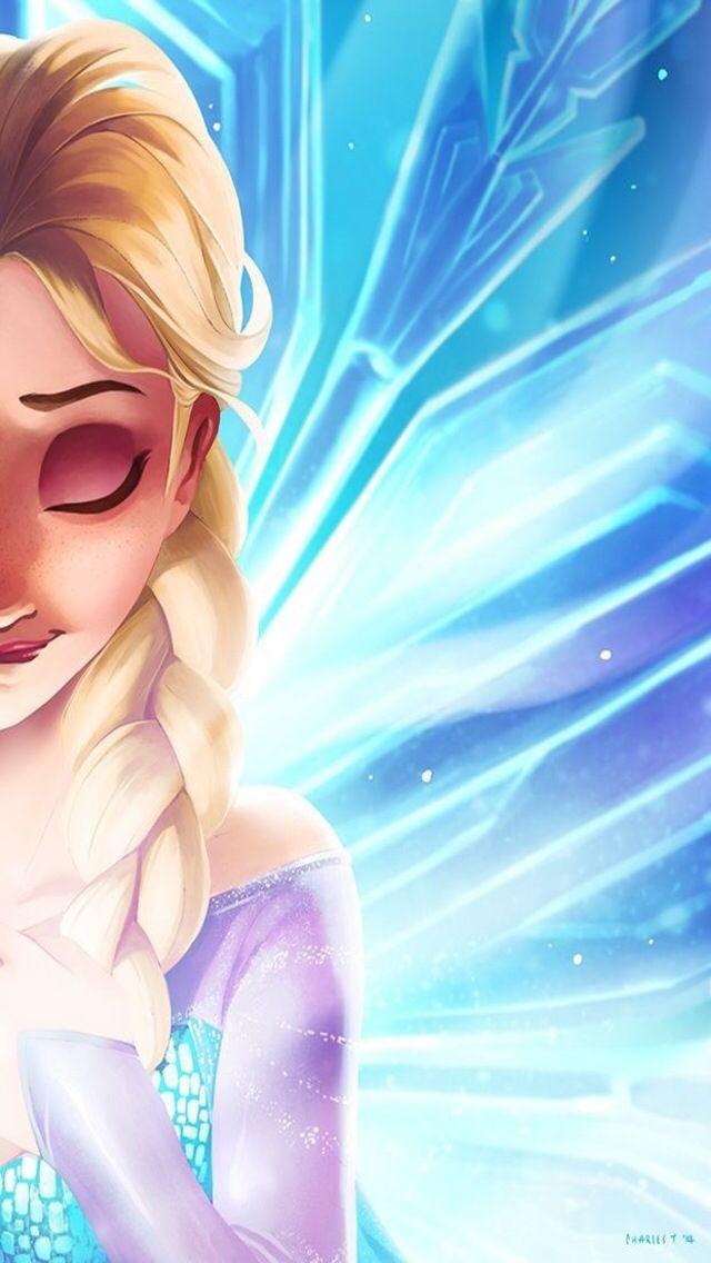 Frozen Elsa ★ Download more Disney iPhone Wallpapers at @prettywallpaper