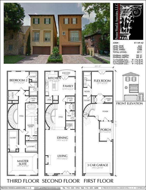 Townhouse Plan E1149 A2