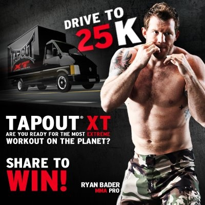 Join TapouT XT for our Drive To 25,000 Fans! We will celebrate by giving away one free Deluxe TapouT XT Kit to one lucky person when we reach 25K. To enter all you need to do is SHARE AND COMMENT on this post. For the comment please tell us why you want to or are taking the TapouT XT Challenge. The winner will be randomly selected from all confirmed shares and comments. Thanks for being a part of the growing TapouT XT Community!