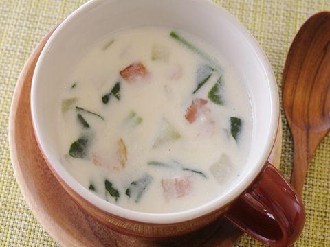 ほうれん草と大根のほっこり和風クリームスープ  https://recipe.yamasa.com/recipes/1594