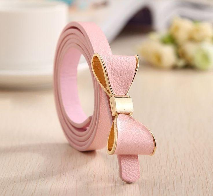 Style Summer 13 Color Women Belt Luxury Brand Colorful Belts for Women Bow Leather Belt Female Waist Ceinture Femme