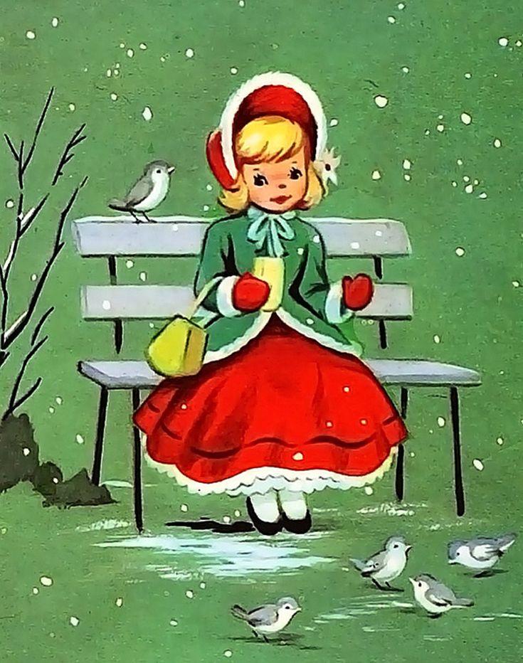 Мобильный LiveInternet Винтажные рождественские открытки. | A-delina - Дневник A-delina |
