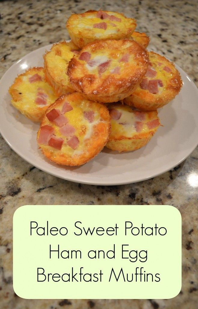 What I Made This Week - Paleo Sweet Potato, Ham and Egg Muffins -