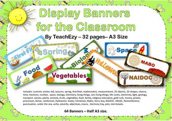 Display Banners for the Classroom