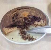 a gorgeous chocolate orange marble cake