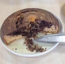 a gorgeous chocolate orange marble cake