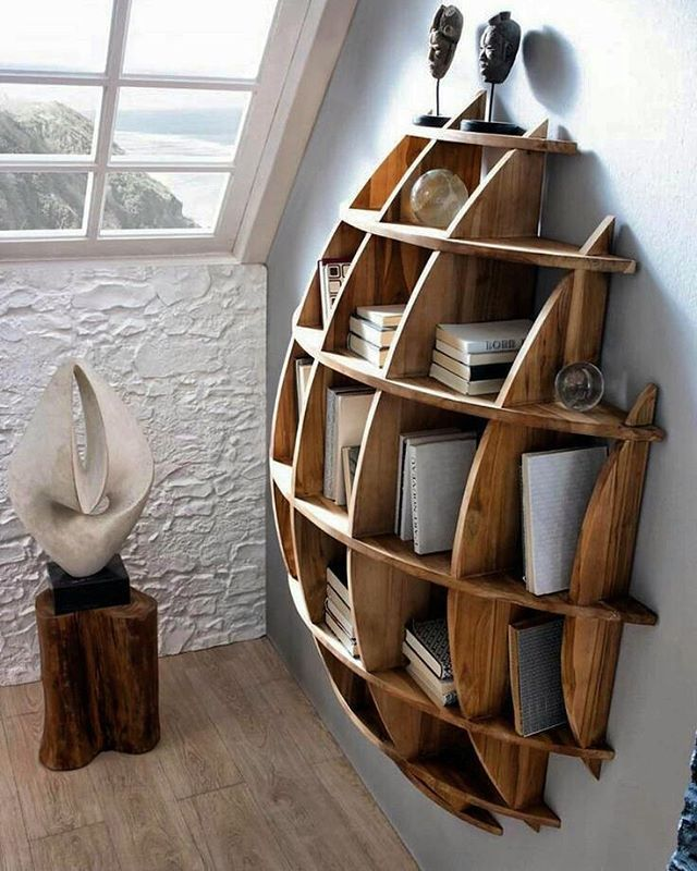 Absolutely in love with this natural looking, classic, yet modern vibe for our Geometric Sphere shelf.  One of these could be yours today!  ºOur work is high quality, original, custom, and affordableº @modern_creations #moderncreations #modern #shelf #shelves #shelving  #decor #homedecor #custom #unique #wood #geometric #wall #wallshelf #wallart #original #woodworking #handmade #highquality #eauclairewi #eauclaire #Wisconsin