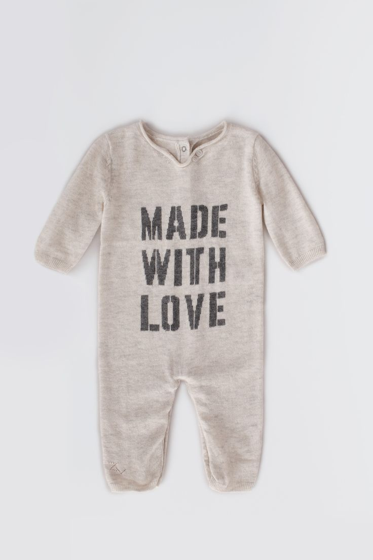 { Zadig et Voltaire romper, knitting embroidery in front and buttons at the back, 95% wool, 5% cashmere }