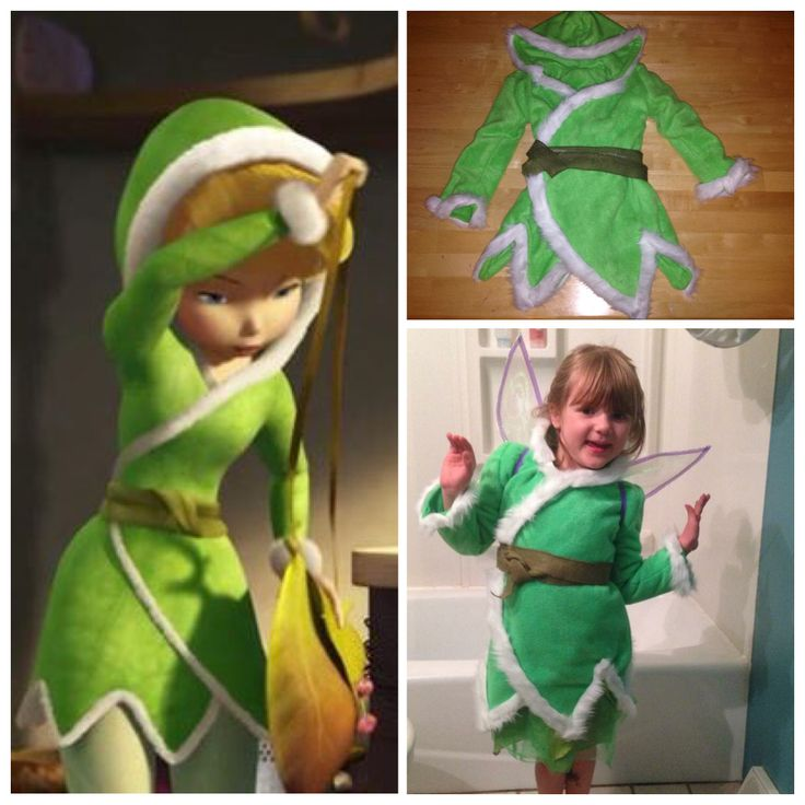 DIY Tinkerbell Secret of the Wings kid's costume or dress up, perfect for the snow we always seem get in October!