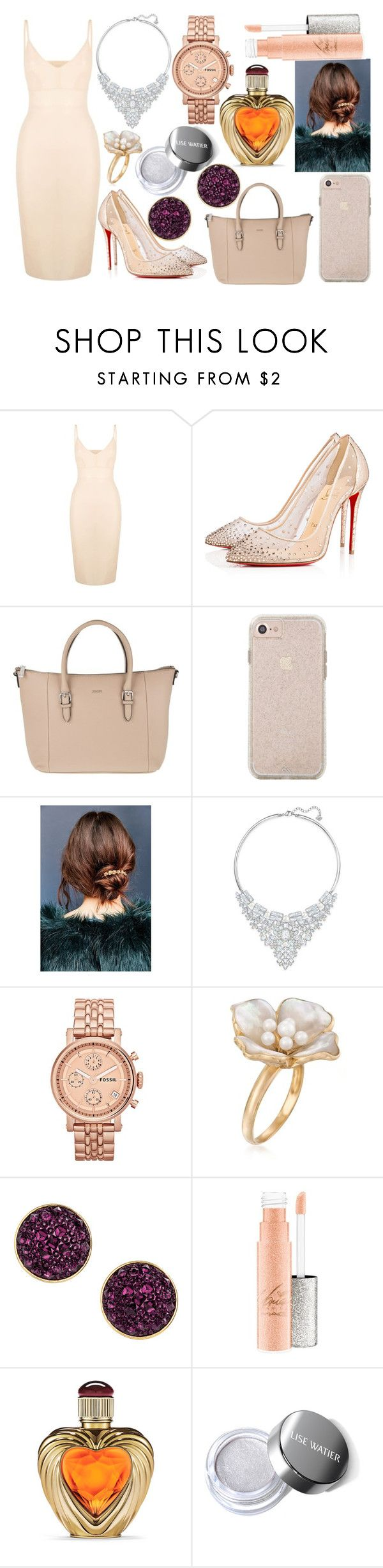 """Sin título #4060"" by onedirection-h1n1l2z1 on Polyvore featuring Roland Mouret, Christian Louboutin, Joop!, Urban Outfitters, Swarovski, FOSSIL, Ross-Simons, H&M, Victoria's Secret y men's fashion"