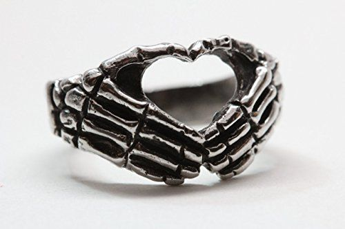 Skeleton hands ring I heart you sign ring love you to death Blue Bayer Design NYC ** Read more  at the image link.