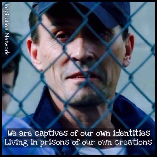 """""""We are captives of our own identities. Living in prisons of our own creations."""" ~Theodore """"T-Bag"""" Bagwell (Prison Break) #quote"""