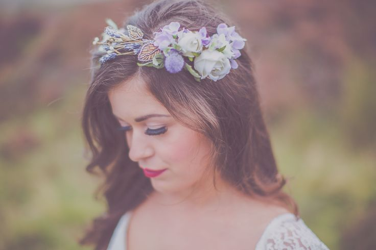 Autumn bride in the North York Moors  Bridal Makeup by Laura Mac, North Yorkshire Makeup Artist