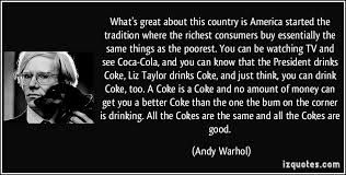A quote about Coke