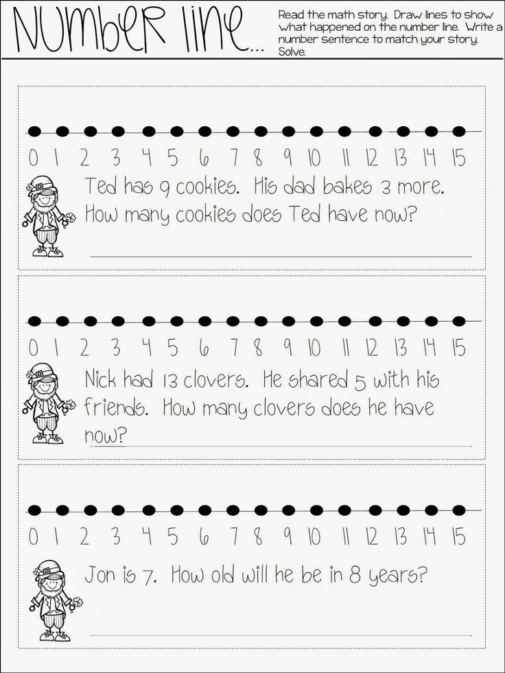 All About Math Journaling- number line freebie